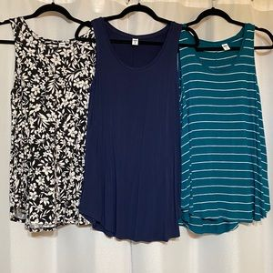 Bundle of 3 Old Navy Luxe Tanks